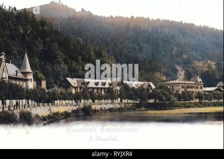 Bâtiments dans le district de Karlovy Vary, 1899, Région de Karlovy Vary, Gießhübl, Sauerbrunn, Ansicht, République Tchèque Photo Stock