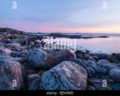 Seascape at sunset Photo Stock