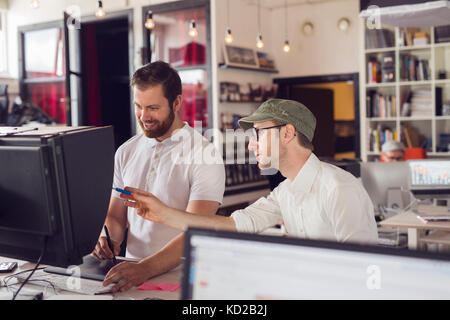 Men working in office Photo Stock