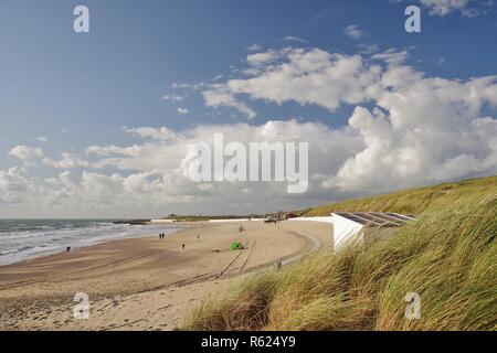 Dyke,dunes, de la plage et de la mer du Nord à Westkapelle walcheren,225,sud,Pays-Bas Photo Stock