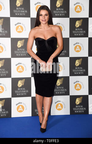 Londres, Royaume-Uni. 19 mars 2019: Faye Brookes arrivant pour la Royal Television Society Awards 2019 au Grosvenor House Hotel, Londres. Photo: Steve Sav/Featureflash Crédit: Paul Smith/Alamy Live News Photo Stock