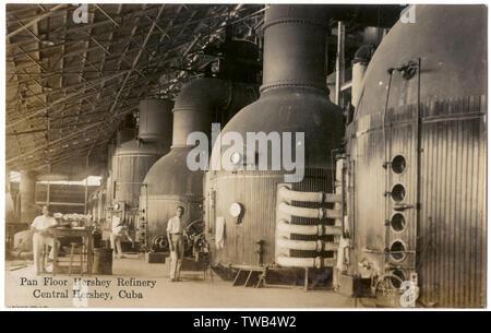 Pan marbre, raffinerie de sucre, Hershey Hershey Centre, à Cuba. Date: vers 1920 Photo Stock