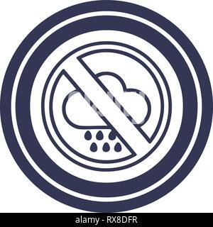 Pas de mauvais temps symbole icône circulaire Photo Stock
