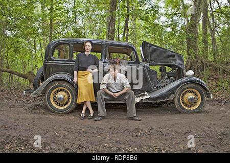 BONNIE & CLYDE 2013 Sony Pictures TV mini-series avec Holliday Grainger et Emile Hirsch Photo Stock