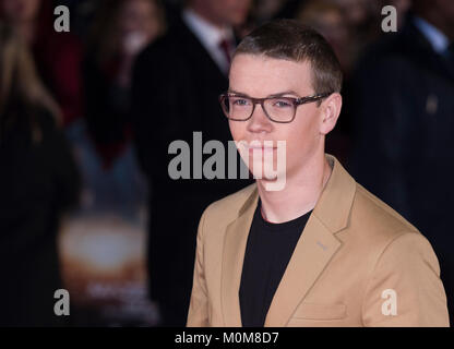 Londres, Royaume-Uni. 22 janvier, 2018. S'Poulter assiste à la 'Maze Runner: la peine de guérir' Photo Stock