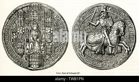 Édouard IV (1442 - 1483) était le roi d'Angleterre. Date: Photo Stock