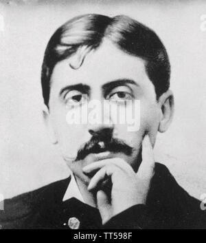 MARCEL PROUST (1871-1922) romancier français vers 1900 Photo Stock