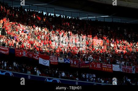 Madrid, Espagne. 01 Juin, 2019. Des fans de Liverpool, Tottenham Hotspur FC V Liverpool FC, 2019 Allstar Crédit: photo library/Alamy Live News Photo Stock