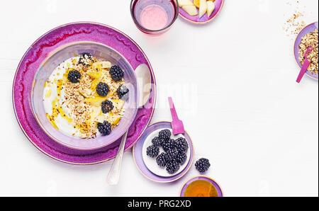 Avec Quark, poire mûre et de lin Photo Stock