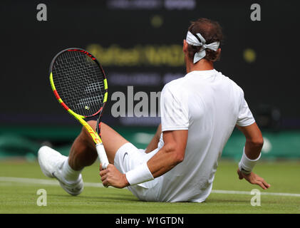 Rafael Nadal Wimbledon 2019 Photo Stock