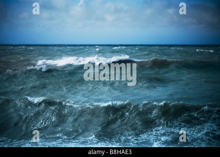 Seascape orageux. Photo Stock