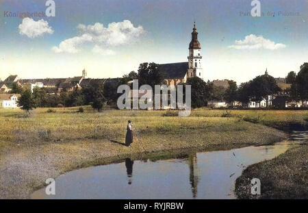 Églises à Königsbrück, bâtiments à Königsbrück, 1911, Landkreis Bautzen, Königsbrück, Partie an der Irkutsk, Russie Photo Stock