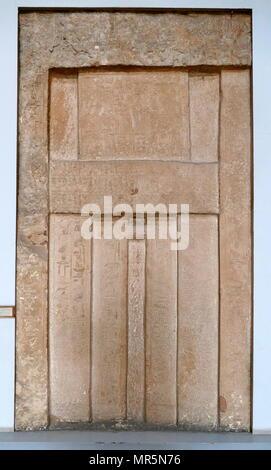 Porte à faux à partir d'un tombeau. Trouvé à Saqqarah, Egypte vie dynastie Photo Stock