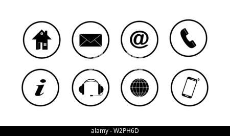 Ensemble de boutons blancs pour les sites web et applications, design simple Photo Stock