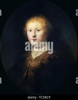 Portrait d'une jeune femme, 1632. On trouve dans la collection de Pinacoteca di Brera, Milan. Photo Stock