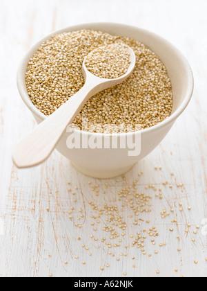 Le quinoa tourné avec un appareil photo numérique moyen format professionnel Photo Stock