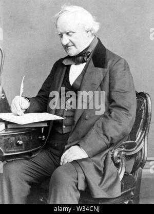 GEORGE PEABODY (1795-1869) financier et philanthrope américain Photo Stock