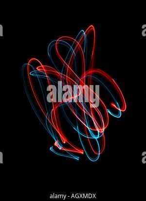 Un effet d'éclairage bleu et rouge Photo Stock