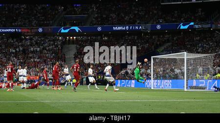 Madrid, Espagne. 01 Juin, 2019. Alisson faire enregistrer, Tottenham Hotspur FC V Liverpool FC, 2019 Allstar Crédit: photo library/Alamy Live News Photo Stock