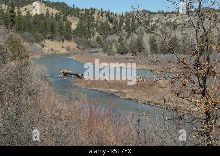 La rivière Piedra, Southern Ute Reservation, Colorado. Photographie numérique Photo Stock