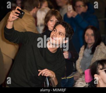Londres, Royaume-Uni. 22 janvier, 2018. Dylan O'Brien assiste à la 'Maze Runner: la peine de Photo Stock
