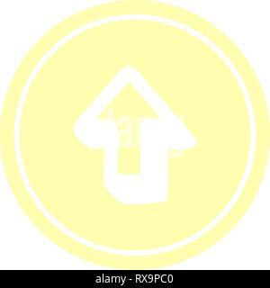 Flèche de direction symbole icône circulaire Photo Stock