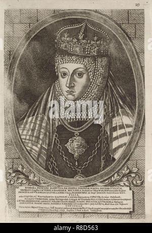 Barbara Radziwill (1520-1551), Reine de Pologne. À partir de: Icones Familiae Ducalis Radivilianae, 1758. Collection privée. Photo Stock