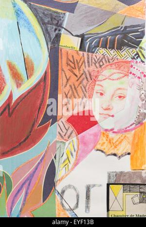 À partir de 'Portrait d'une noble dame de Saxon' de Cranach 29/05/2015 - 21ème siècle Photo Stock