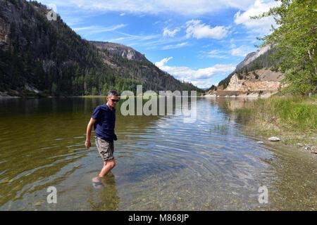 En Canyon Parc Provincial, Canadian Rockies Photo Stock