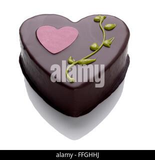 Valentines Day gâteau au chocolat Photo Stock