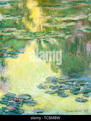 Claude Monet, nymphéas, peinture de paysages, 1907 Photo Stock
