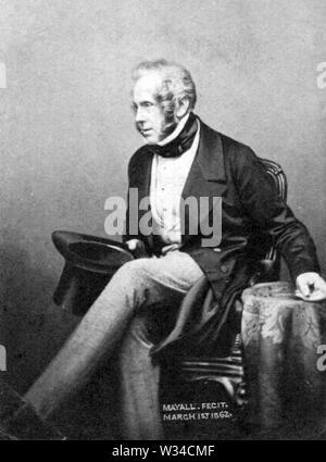 HENRY JOHN TEMPLE, 3e vicomte Palmerston (1784-1865) Homme d'État britannique et deux fois Premier Ministre Photo Stock