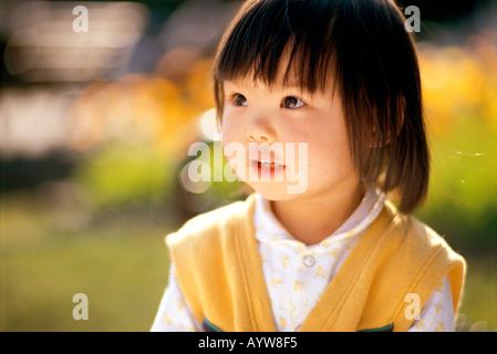 Visage d'une jeune fille Photo Stock