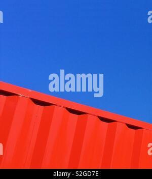 Résumé rouge et bleu Photo Stock