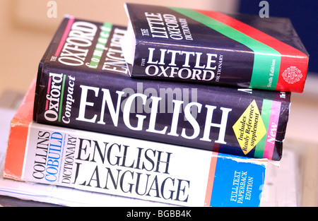 Photographie de l'apprentissage de l'anglais dictionnaires dictionnaire Photo Stock