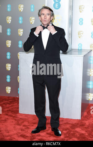 Londres, Royaume-Uni. 10 fév, 2019. Londres, Royaume-Uni. 10 février 2019 : Steve Coogan arrivant pour le BAFTA Film Awards 2019 au Royal Albert Hall, Londres. Photo : Steve Sav/Featureflash Crédit : Paul Smith/Alamy Live News Photo Stock