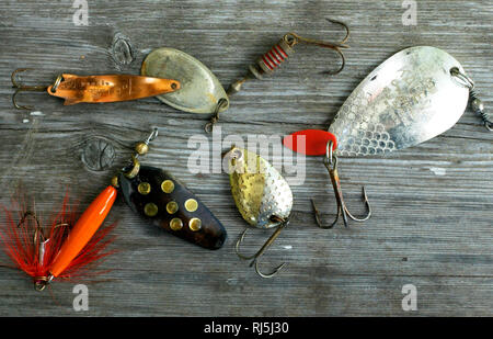 L'équipement de pêche Photo Stock