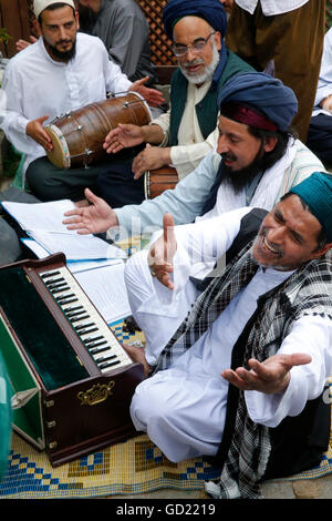 Musiciens Qawali, Urs de Mawlana Cheikh Muhammad Nazim Adil al-Haqqani à Lefke, Chypre, Europe Photo Stock