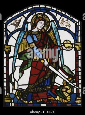 Saint Michel Archange, ca 1326. On trouve dans la collection du Palazzo Pubblico, Sienne. Photo Stock