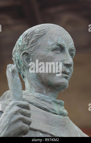 Le Père Junipero Serra statue, Mission Santa Barbara Santa Barbara, CA. Photographie numérique Photo Stock