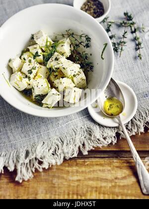 Fromage de brebis mariné Photo Stock