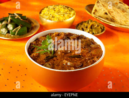 BRINJAL CURRY INDIEN Photo Stock