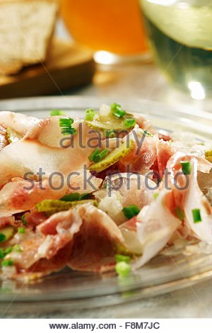 Salade de museau de boeuf souabe Photo Stock
