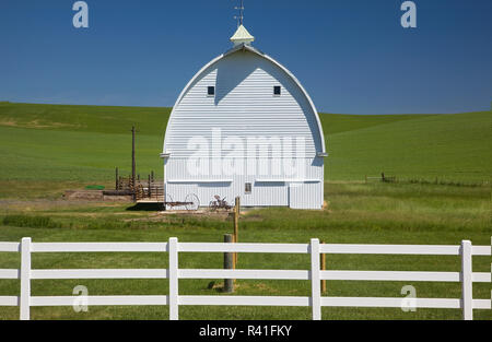 L'État de Washington, USA, grange Palouse Photo Stock