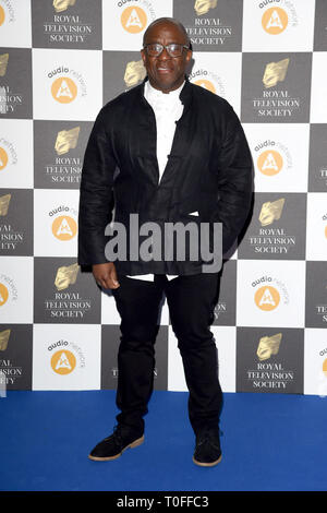 Londres, Royaume-Uni. 19 mars 2019: Lucian Msamati arrivant pour la Royal Television Society Awards 2019 au Grosvenor House Hotel, Londres. Photo: Steve Sav/Featureflash Crédit: Paul Smith/Alamy Live News Photo Stock