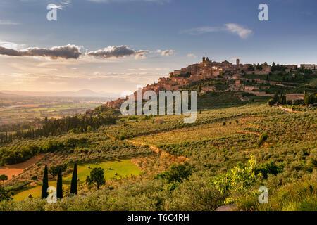 L'Italie, l'Ombrie, Pérouse, district de Trevi. Photo Stock