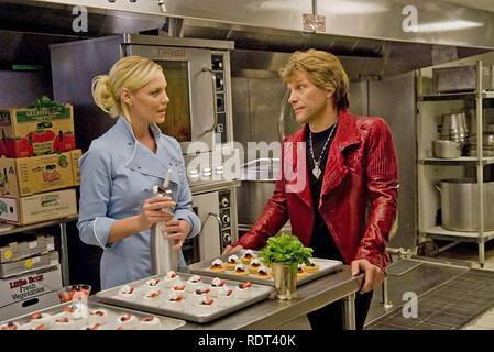 La VEILLE DU NOUVEL AN 2011 New Line Cinema production avec Katherine Heigl et Jon Bon Jovi Photo Stock