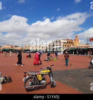 Place Jemaa el Fna à Marrakech, Maroc Photo Stock