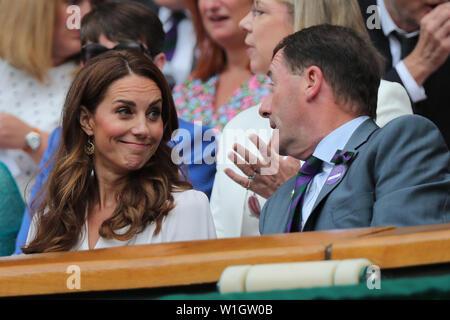 La duchesse de Cambridge Phillip Brook Wimbledon 2019 Photo Stock