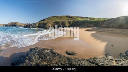 France, Morbihan, Belle-Île, l'île de Bangor, Baluden beach Photo Stock